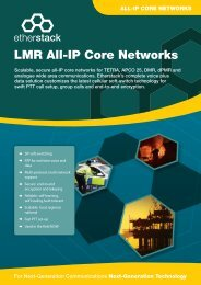 LMR All-IP Core Networks - Etherstack