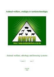 Ménhasználat Magyarországon - Animal Welfare, Etológia és ...
