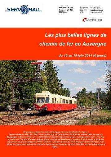 Les plus belles lignes de chemin de fer en Auvergne du ... - SERVRail