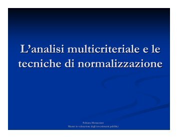 introduzione all'analisi multicriteriale