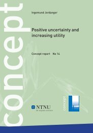 Positive uncertainty and increasing returns on ... - Concept - NTNU