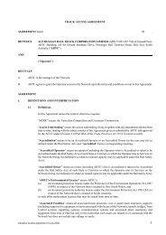 Indicative Access Agreement - Australian Rail Track Corporation
