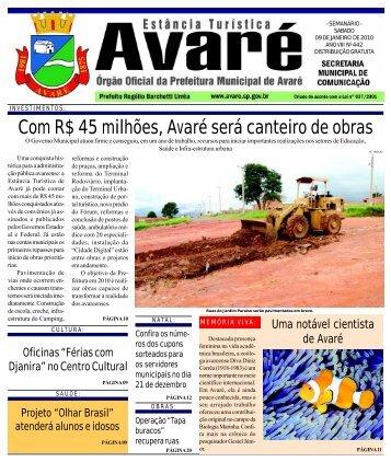 Com R$ 45 milhões, Avaré será canteiro de obras - Câmara ...