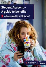 Student Account – A guide to benefits - NatWest