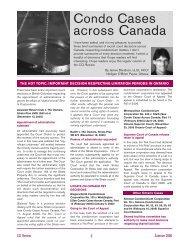 Condo Cases Across Canada - Summer 2006 - Nelligan O'Brien ...