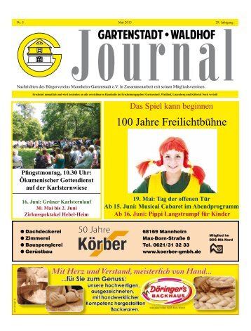 100 Jahre Freilichtbühne - Bürgerverein Gartenstadt