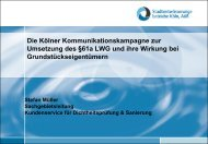 Die Kölner Kommunikationskampagne zur Umsetzung des §61a ...