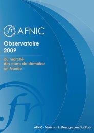 Observatoire du marche des noms de domaine en France ... - Afnic