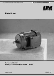 Data Sheet – Functional Safety – Safety ... - SEW-Eurodrive