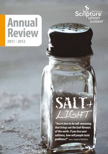 Annual Review 2011/12 - Scripture Union Scotland