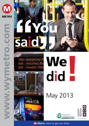 Read the full report (pdf, 1mb - opens in new window) - Metro