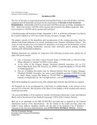 Invitation to Bid The City of Suwanee is requesting proposals from ...