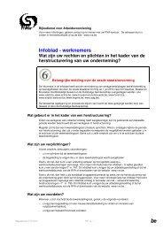 Infoblad - werknemers - Rijksdienst voor Arbeidsvoorziening