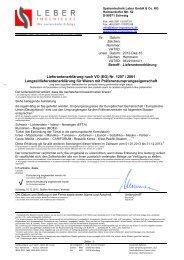 Langzeitlieferantenerklärung 2013 - Systemtechnik Leber