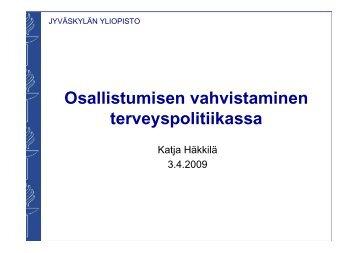 Katja Häkkilä - Kansalaisareena