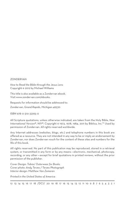 ZONDERVAN How to Read the Bible through the Jesus Lens
