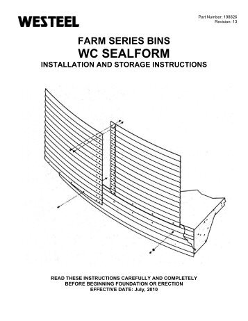 198826 WC SealForm INSTALLATION INSTRUCTIONS.pdf - Westeel