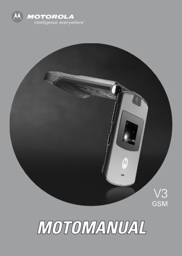 Motorola RAZR V3 Manual - Cell Phones Etc.