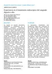 Experiencia en el tratamiento endoscópico del sangrado digestivo alto