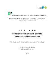 Handbuch gesundheitliche Eignung - Bundesministerium für ...