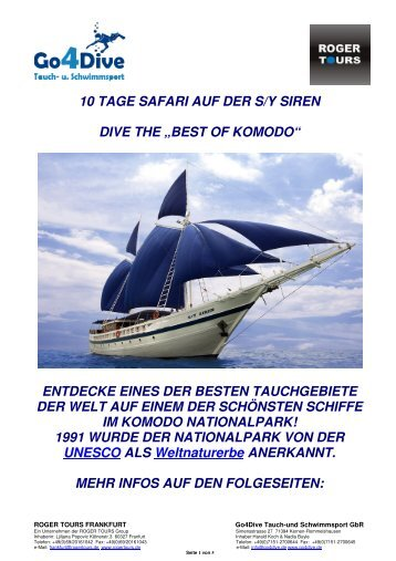 10 TAGE SAFARI AUF DER S/Y SIREN DIVE THE - Go4Dive Tauch