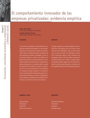 El comportamiento innovador de las empresas - Madri+d