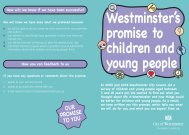 Westminster's promise to children and young people