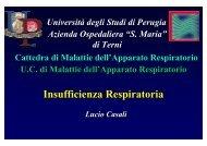 Insufficienza Respiratoria 2010 - Università degli Studi di Perugia