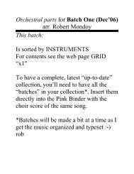Batch 1: Clarinet - Mondoy Music