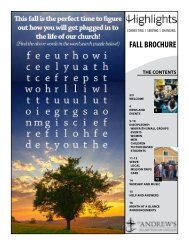 FALL BROCHURE - St. Andrews Presbyterian Church