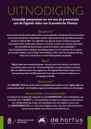 UITNODIGING - Digitale Plantenatlas