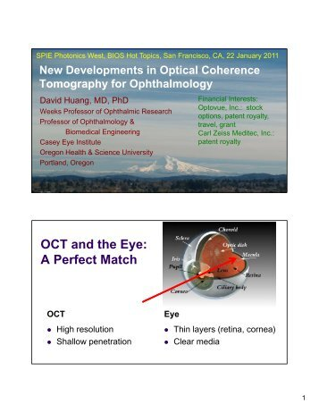 New Developments in Optical Coherence Tomography for ...