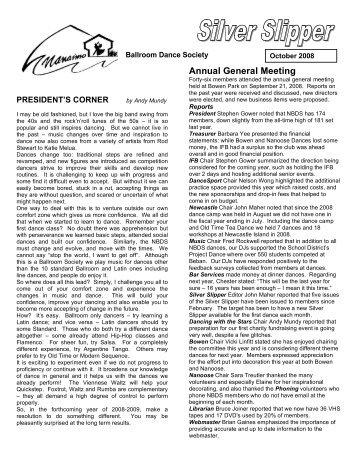 Annual General Meeting - Nanaimo Ballroom Dance Society