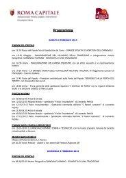 Programma Carnevale Romano 2013