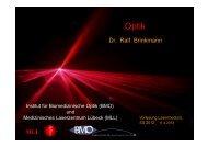 Dr. Ralf Brinkmann MLL - Institut für Biomedizinische Optik
