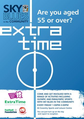 Sky Blues in the community A5 flyer - Coventry Partnership