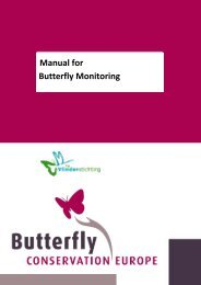 Manual for Butterfly Monitoring - Butterfly Conservation Europe