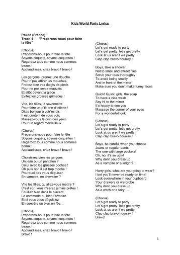 tour the world lyrics pdf