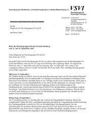 Einladung Exkursion Salzburg - VSVI Baden Württemberg