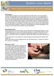 PP8343 Minder emissie van zware metalen - factsheet - Soilpedia