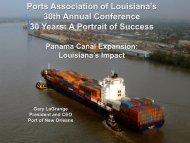 Louisiana's Impact (4.7MB, Gary LaGrange, March, 2013) - Ports ...
