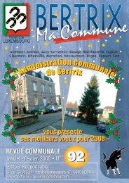 Revue Communale de Bertrix n° 92