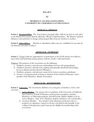 to view a copy of the original bylaws as last ratified in ... - UCSF Alumni