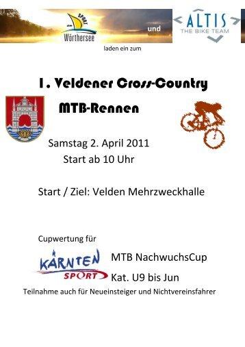 1. Veldener Cross-Country Mtb-Rennen
