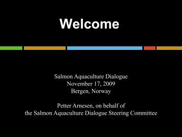 Goal of the Salmon Aquaculture Dialogue - World Wildlife Fund