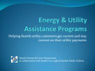 Utility Assistance Programs - City of Seattle