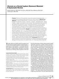 Zirconia as a Dental Implant Abutment Material: A Systematic Review