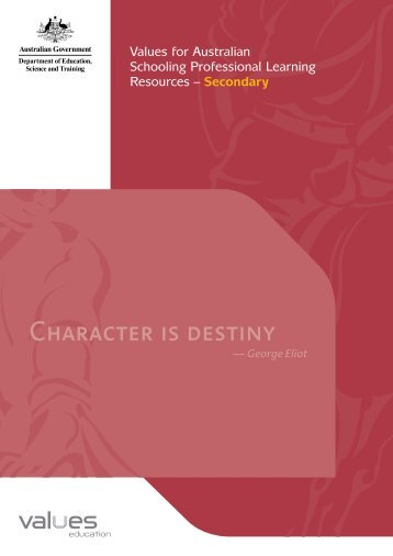 Character is destiny - Values Education