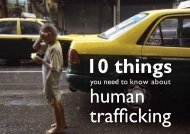 10 Things You Need To Know About Human Trafficking - World Vision