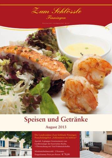 Speisekarte August 2013 pdf - Zum Schlößle